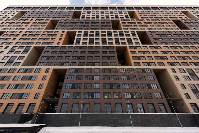 "Multifunctional housing project ""Megalit"". Construction, 2016 © Eugene Gerasimov and Partners"