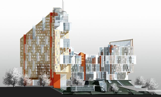 Жилой комплекс, г. Красноярск © Архитектурное бюро Асадова