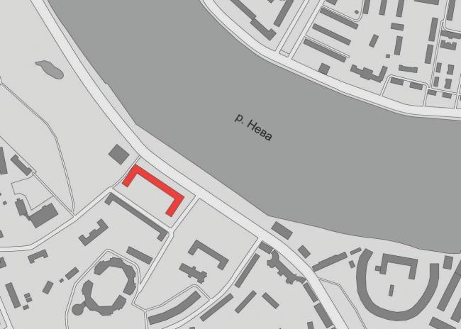Многофункциональный жилой комплекс «Мегалит». Ситуационный план © Евгений Герасимов и партнеры