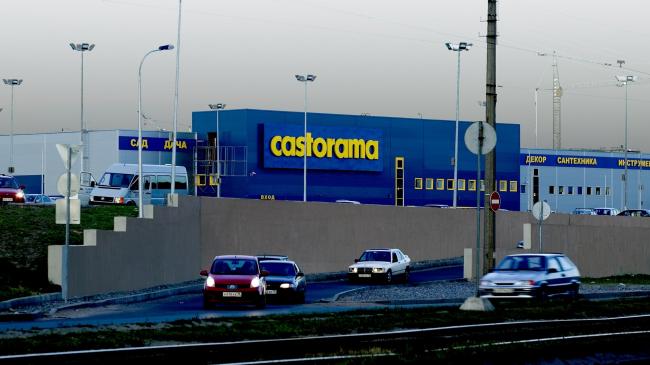 """Lenta"" shopping center on the Dalnevostochny Avenue. Facade. Construction, 2009 © Anatoly Stolyarchuk architects"