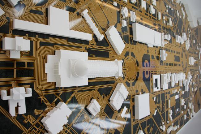 Макет-плата. Павильон России на биеннале архитектуры в Венеции. Фотография © Юлия Тарабарина, Архи.ру