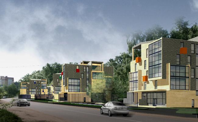 Малоэтажный жилой комплекс, пос. Паведники © Архитектурное бюро Асадова