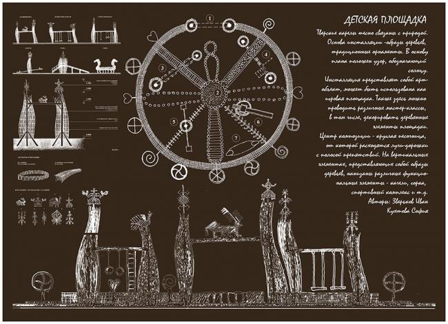 «Детская площадка», автор Иван Зверьков, Кухтова Софья. Изображение предоставлено компанией «Сити-Арх»