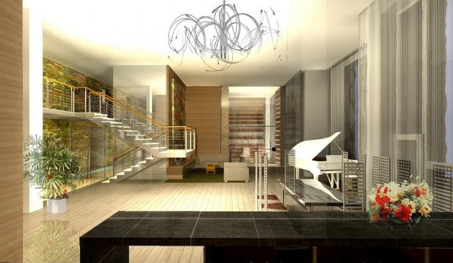 Интерьер пентхауса, Шмитовский пр. © Архитектурное бюро Асадова
