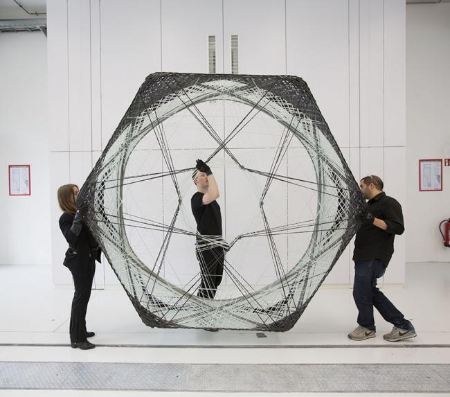 Процесс создания павильона Elytra Filament в Музее Виктории и Альберта, 2016 © Victoria and Albert Museum, London