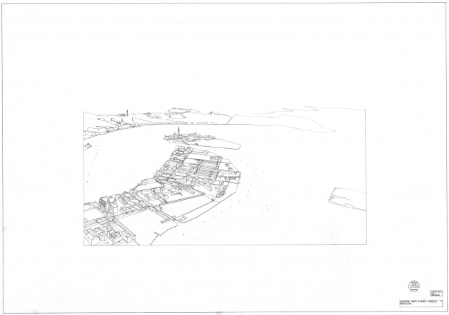 Алваро Сиза. Конкурсный проект для Кампо-ди-Марте на Джудекке (1-е место) © Álvaro Siza Fonds / Canadian Centre for Architecture, Montréal