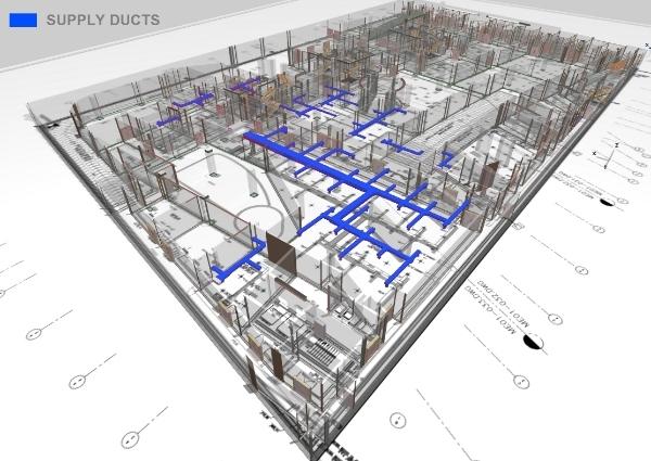 Информационная модель здания с инженерными сетями © МАРШ