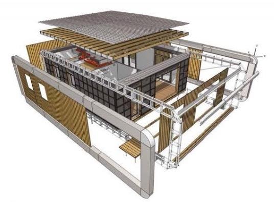 Информационная модель загородного дома. Основные конструктивные элементы © МАРШ