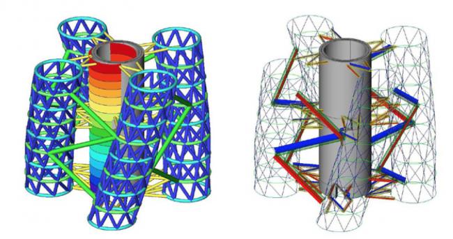 Информационная модель конструктивной схемы небоскреба © МАРШ