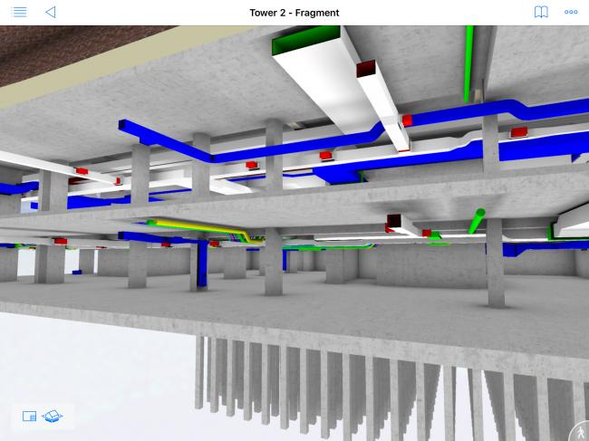 Фрагмент информационной модели. Разводка системы вентиляции © МАРШ