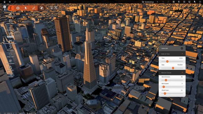 Анализ свето-теневой модели города в геоинформационной системе © МАРШ