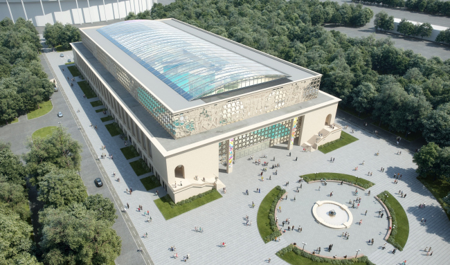 Концепция реконструкции бассейна «Лужники» © UNK project