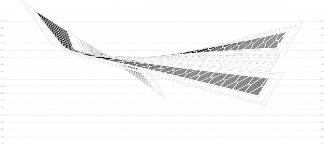 Трехмерная модель сложной поверхности. Горпроект © Академия BIM