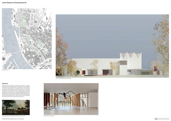 Проект Латвийского музея современного икусства © Caruso St John Architects (UK) + Arhitektu birojs Jaunromāns un Ābele