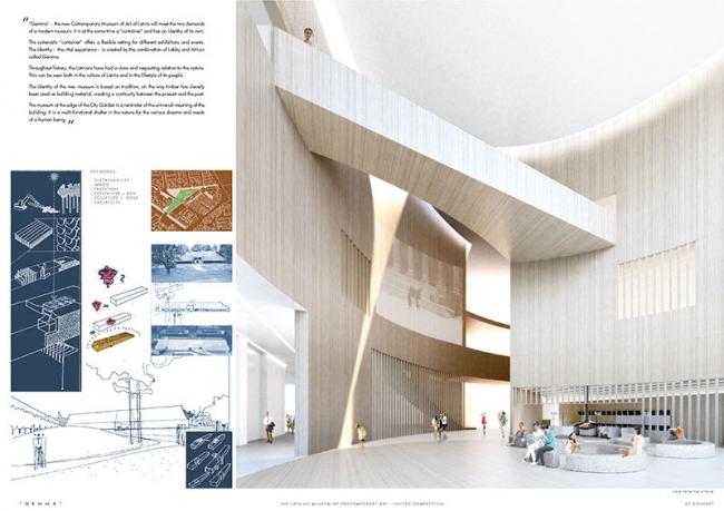 Проект Латвийского музея современного икусства © Lahdelma & Mahlamäki Architects (Finland) + MADE arhitekti