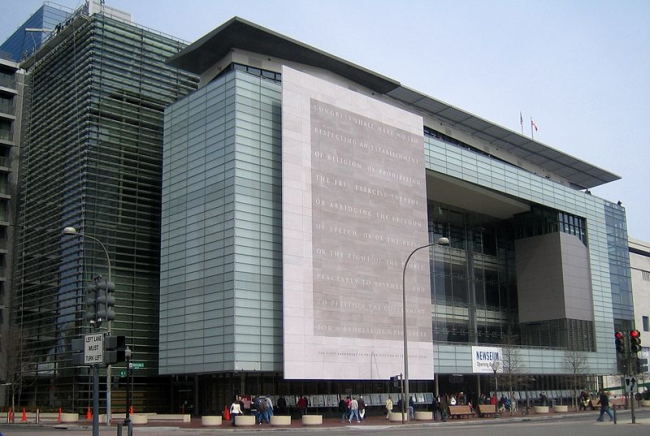 Музей Newseum. Фото: David Monack via Wikimedia Commons. Лицензия CC-BY-SA-3.0-US
