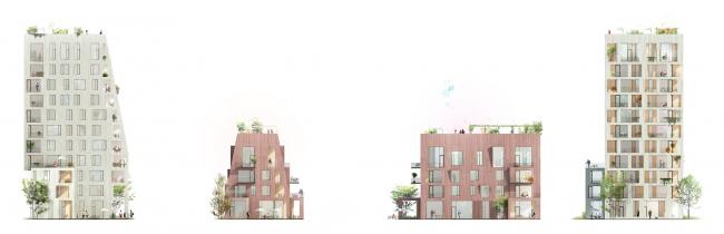 Деревянный город в Эрнсру © C.F. Møller Architects