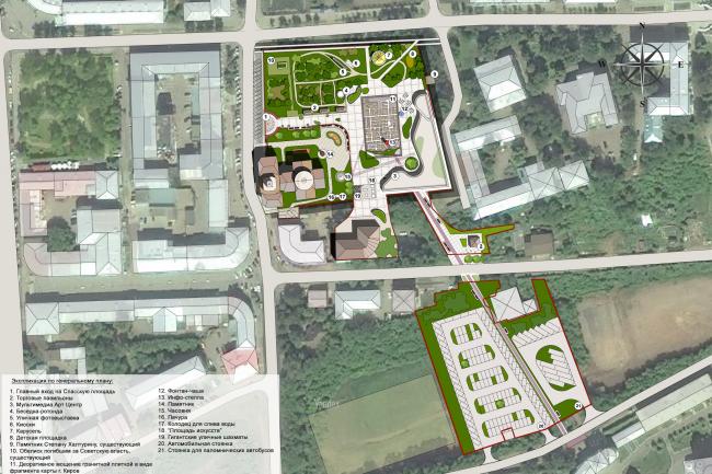 Reconstruction of Kirov′s Spasskaya Square. Masterplan. Eco-project © Arkhstroidesign