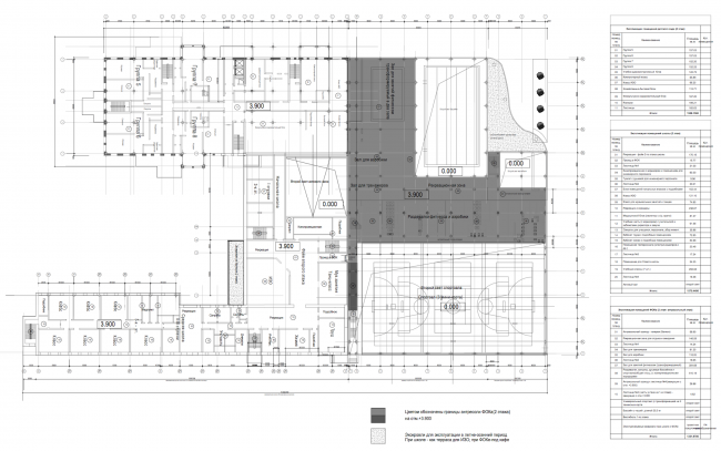 Sports training complex in Kirov. Plan of the 2nd floor © Arkhstroidesign