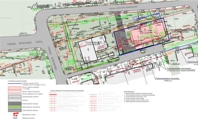 Архитектурно-градостроительное решение объекта «Административный центр». Ситуационный план © ABD architects