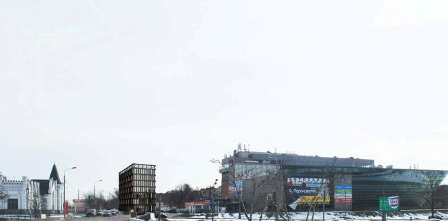 Архитектурно-градостроительное решение объекта «Административный центр». Фотомонтаж © ABD architects