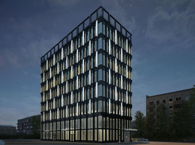 Архитектурно-градостроительное решение объекта «Административный центр». Проект, 2015 © ABD architects