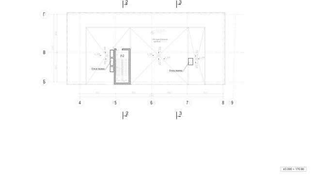 Архитектурно-градостроительное решение объекта «Административный центр». План кровли © ABD architects