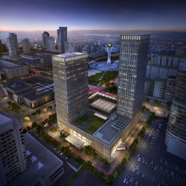 Комплекс Talan Towers. Проект, 2013. Реализация, 2016. Изображение © talantowers.com