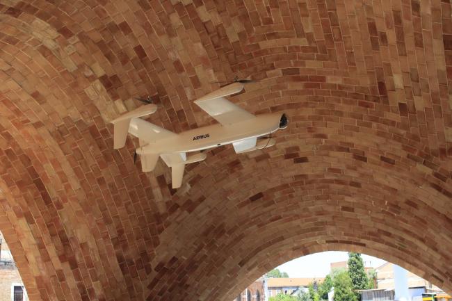 Реализованный модуль дронопорта на венецианской биеннале. Фотография © Юлия Тарабарина, Архи.ру