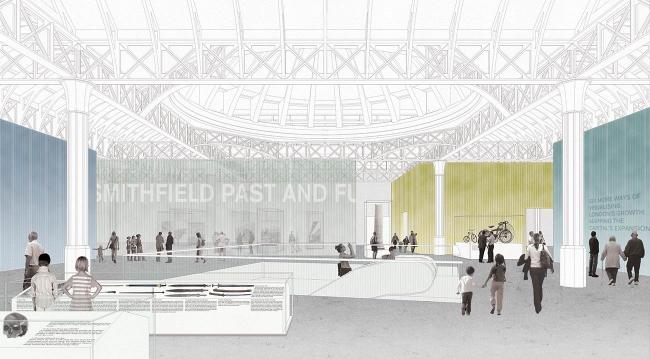 Новое здание Музея Лондона в Смитфилде © Caruso St John. Источник: malcolmreading.co.uk