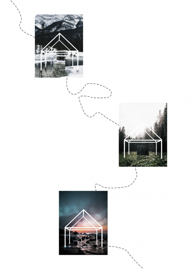 Проект отеля «Найди себя» / Алексей Снетков, Катя Шомесова, Анастасия Попова © Non Architecture Competitions