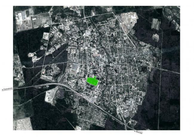 Городской парк в городе Гагарине. Ситуационный план © Архитектурное бюро Практика