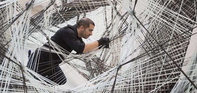 Процесс создания павильона Elytra Filament © Victoria and Albert Museum, London