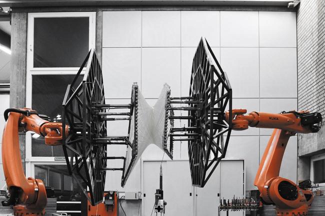 Процесс создания павильона Elytra Filament © ICD/ITKE University of Stuttgart