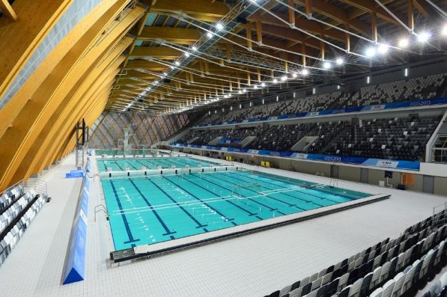 Дворец водных видов спорта, Казань. Спроектирован архитектурным бюро SPEECH