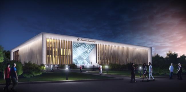 Ледовый дворец «Кристалл» на улице Лужники. Заказчик: «Арена РТ». Проектная организация: ПИ «Арена»