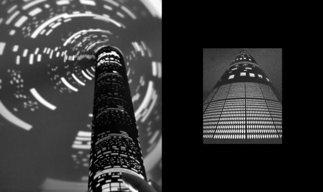 Дипломная работа Дарьи Зайцевой «Городская тюрьма». Руководители: Евгений Асс, Кирилл Асс. Ночной вид на башню © МАРШ, 2016