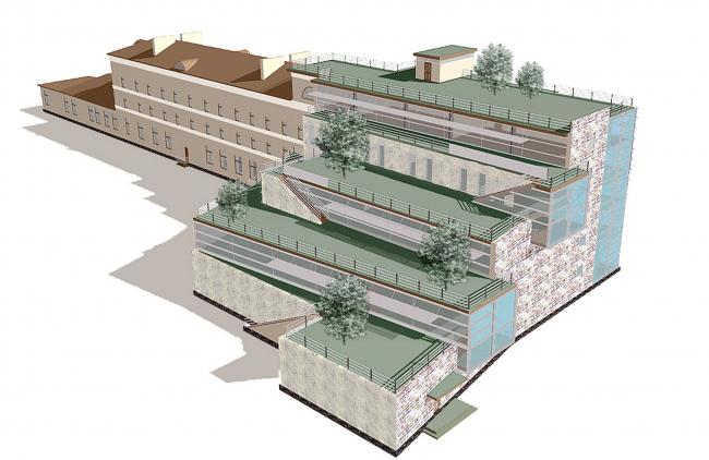 Реконструкция зданий, ул. М. Дмитровка © Архитектурное бюро Асадова