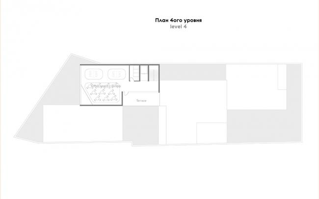 Проект P I C. План четвёртого этажа. Авторы: Анна Петрова, Патрисия Урлан, Джефри Стивенс. Тьютор: Хироки Мацуура, бюро MASA