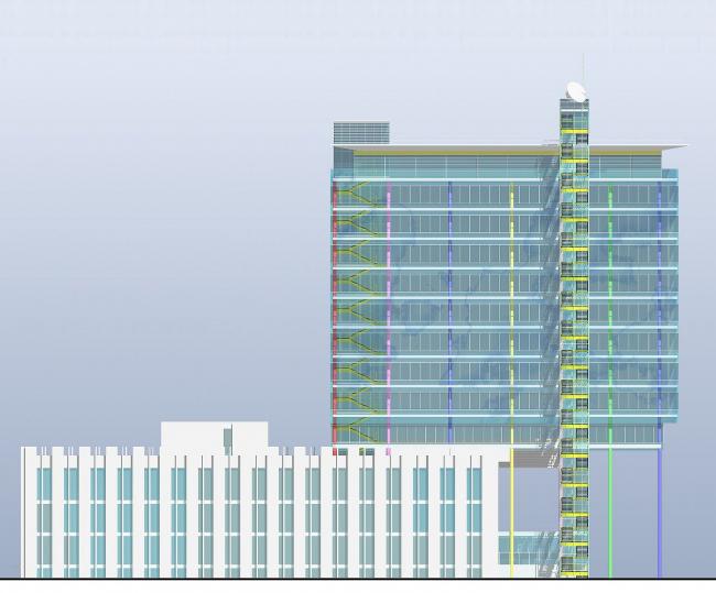 Реконструкция с надстройкой офисного здания, Зеленый пр. © Архитектурное бюро Асадова
