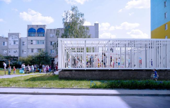 Вид на павильон в микрорайоне Центральный. Иллюстрация предоставлена участниками проекта «Арт-дворы»