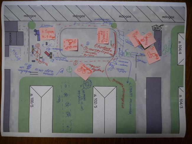 Предварительный анализ ситуации в 52-м квартале. Иллюстрация предоставлена участниками проекта «Арт-дворы»