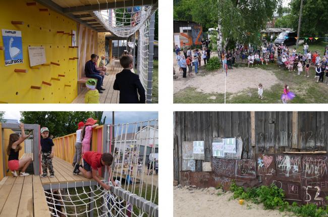 Открытие «Арт-двора» на улице Корнилова. Иллюстрация предоставлена участниками проекта «Арт-дворы»