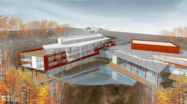 Офисно-рекреационный комплекс, пос. Клязьма © Архитектурное бюро Асадова