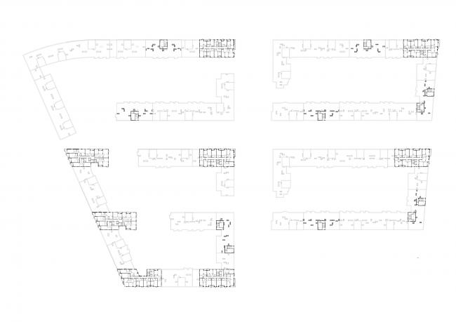 Жилая застройка в посёлке Красково. Жилой комплекс. План 14 этажа © АБ Остоженка