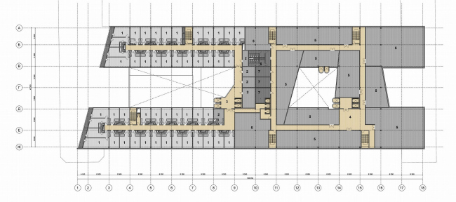 Комплекс «Лайнер», г. Пермь © Архитектурное бюро Асадова