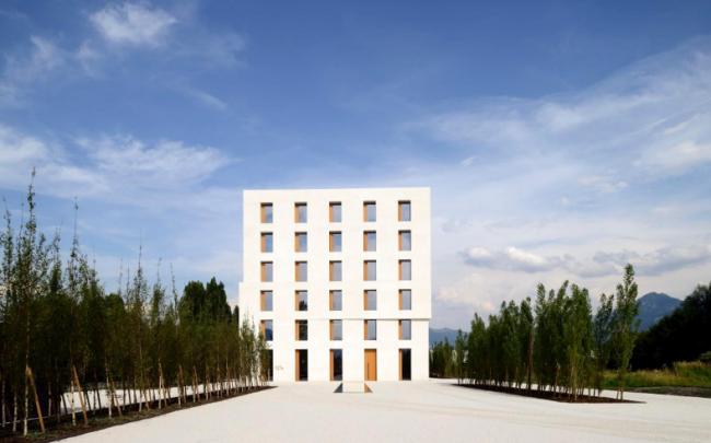 Офисное здание 2226, Лустенау, Австрия.  be baumschlager eberle © Norbert Prommer