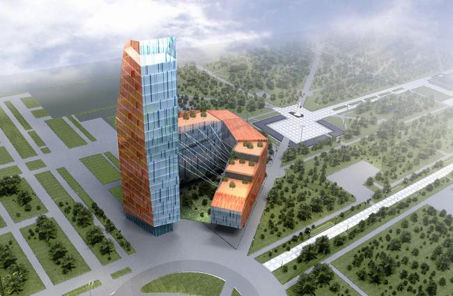 Бизнес-центр с гостиницей, г. Краснодар © Архитектурное бюро Асадова
