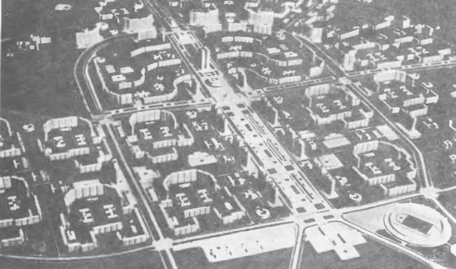 Пникс в Ясенево. Дипломный проект Анны Гоги. Фотография района Ясенево 1975 года. Студия архитектурного бюро «Меганом». МАРХИ, 2016