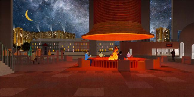 Городская комната. Дипломный проект Влада Капустина. Студия архитектурного бюро «Меганом». МАРХИ, 2016